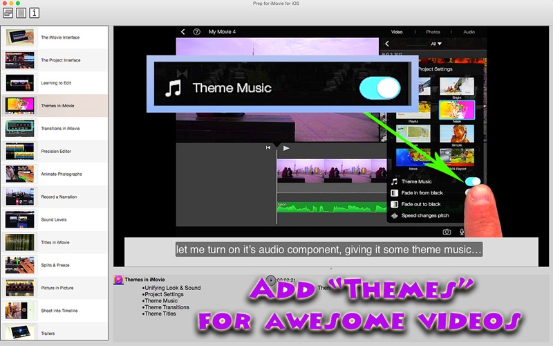 themes for imovie