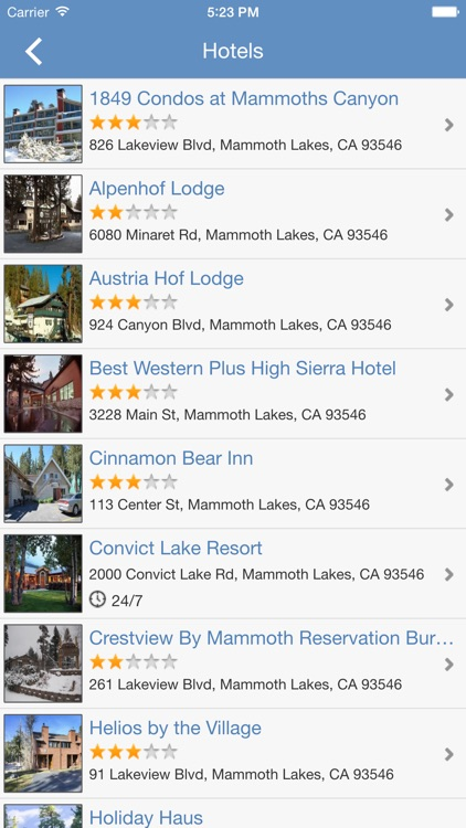 Mammoth Mountain Places Guide
