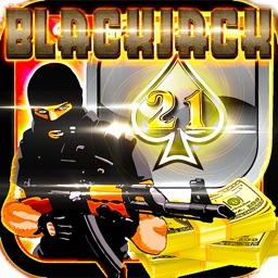 Offline Sniper Attack Blackjack Shooter Strike - Free 3D Sniper Urban Casino BlackJack 21 Card Game