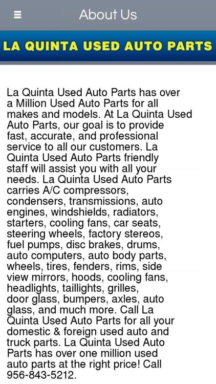 La Quinta Auto Parts >> La Quinta Used Auto Parts By Sandra Prado