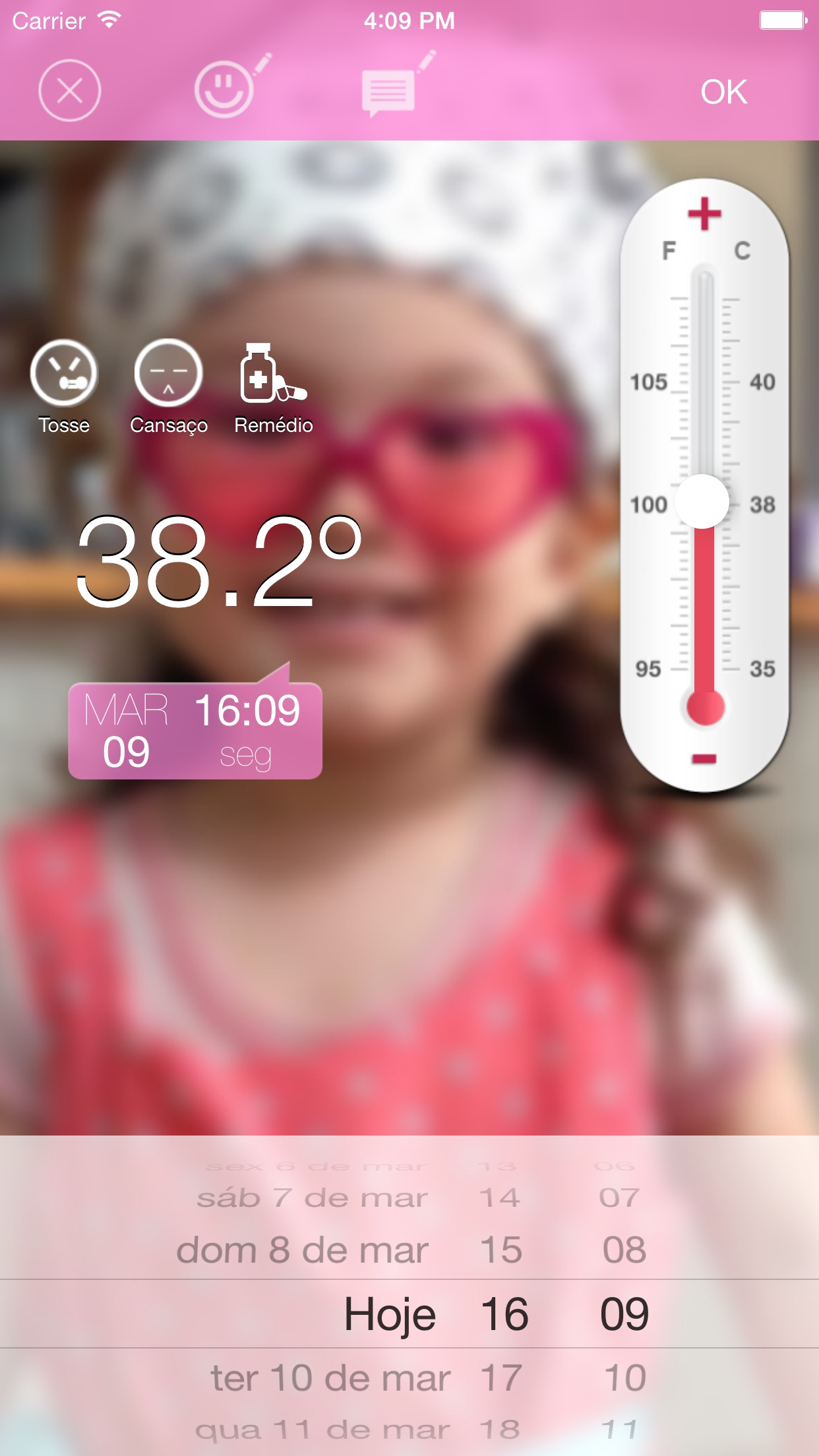 Screenshot do app Fever Notes