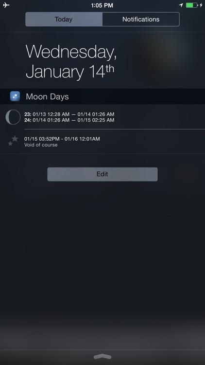 Moon Days - Lunar Calendar and Void of Course Times screenshot-4
