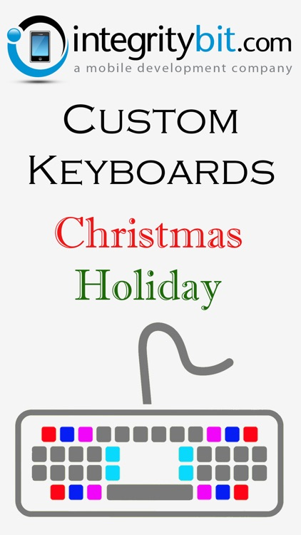 Christmas Holiday Keyboard Background Color Themes for iPhone, iPad, iPod screenshot-3