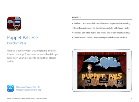 puppet pals hd director s pass lesson ideas by apple education on ibooks
