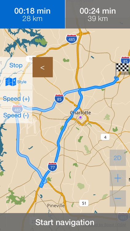 North Carolina/Charlotte Offline Map with Real Time Traffic Cameras Pro screenshot-4