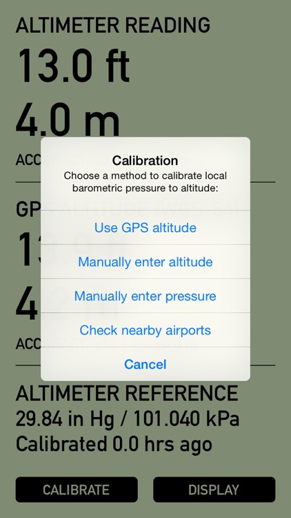 Pro Altimeter - Barometric Altimeter with Manual/GPS/METAR Calibration