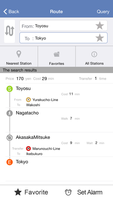 Tokyo Meto - Useful APP for travelers when traveling in Tokyo (can use without WIFI/Cellular) screenshot two