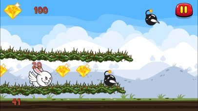 Aaah! It's Flappy the Crazy Rabbit Vs Angry Clumsy Bombs! HD Free screenshot three