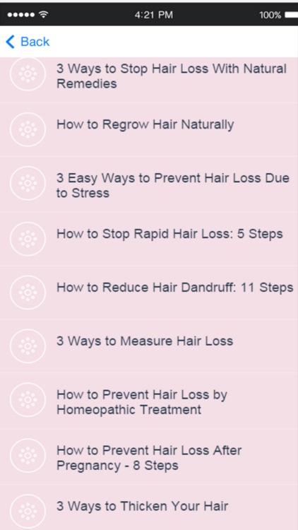 Hair Loss - Tips and Advice on How to Reduce Hair Loss screenshot-2