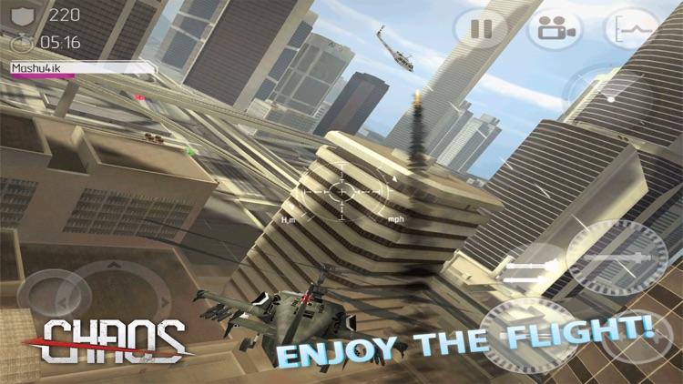 CHAOS - Multiplayer Helicopter Simulator 3D screenshot-4