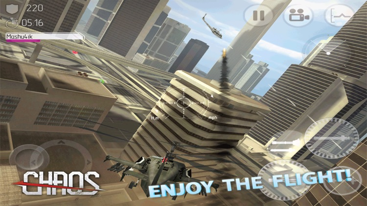 CHAOS Combat Copters HD -­ #1 Multiplayer Helicopter Simulator 3D