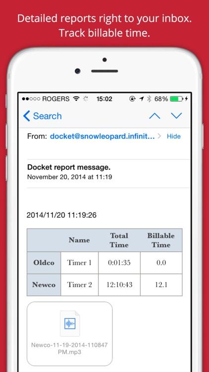 Docket Time Tracking screenshot-4