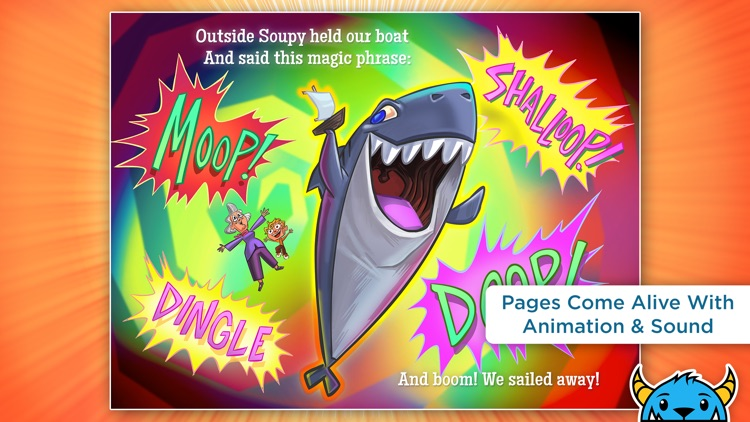 A Shark Knocked On the Door - An Interactive Animated Storybook App For Kids screenshot-2