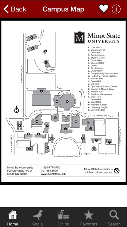 Minot State University Campus Map.Minot State University By Campus Orb Llc