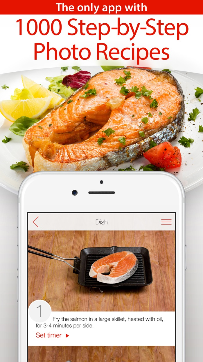 Yum-Yum! 1000+ Free Recipes with Step-by-Step Photos & Grocery Shopping List Screenshot