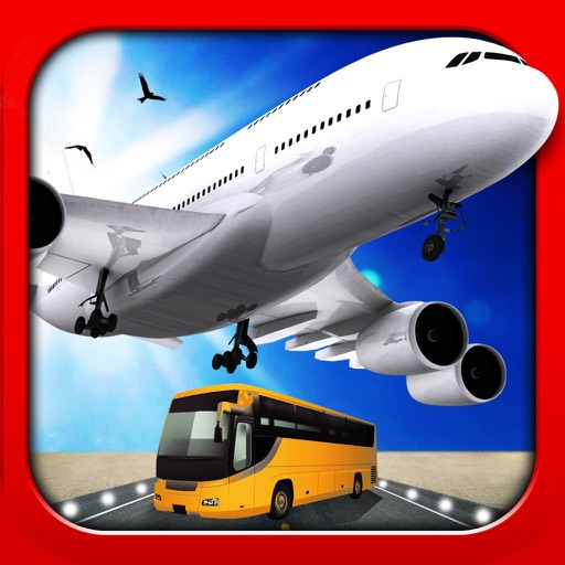 3D Plane and Bus Simulator PRO - Airplane & Car Parking, Driving and Racing - Training Game on Real City Airport icon