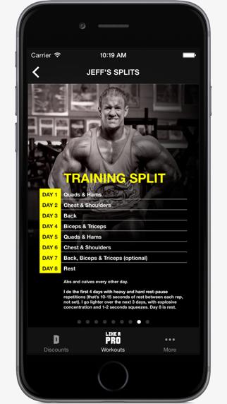 Like A Pro Bodybuilder - Bodybuilding app & workout plans by IFBB Pro Jeff Longのおすすめ画像4