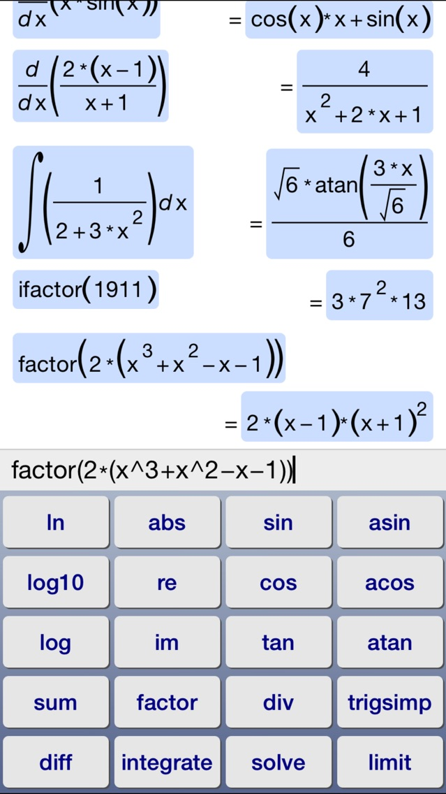 Symbolic Calculator By Voxeloid Kft Ios United States