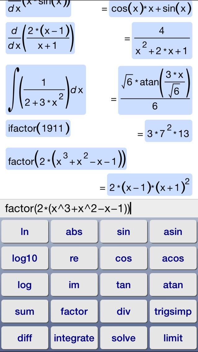 Symbolic Calculator App Price Drops