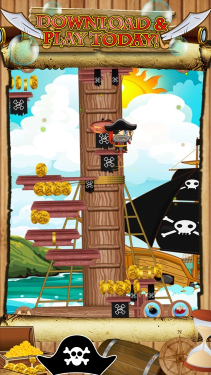 Awesome Pirate Jump Crazy Adventure Game by Super Jumping Games FREE screenshot-4