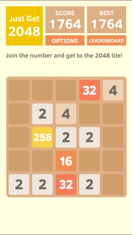 Just Get 2048 - A Simple Puzzle Game ! screenshot-1