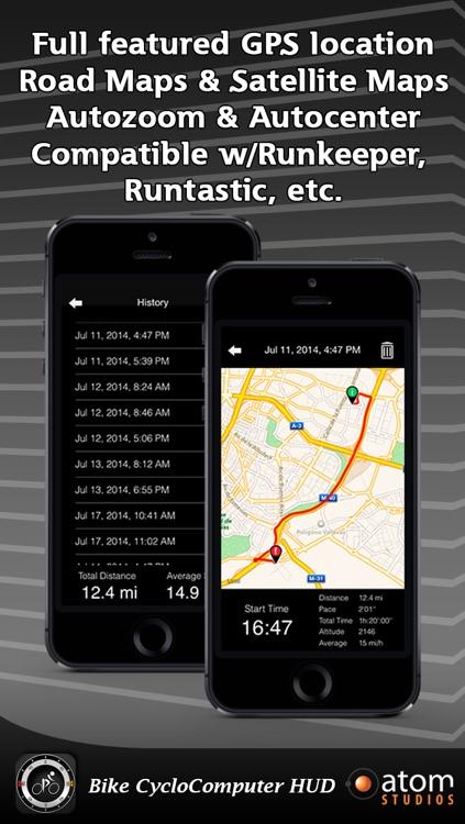 Bike CycloComputer HUD - gps, odometer, altimeter, inclinometer and maps computer for your bike screenshot-3