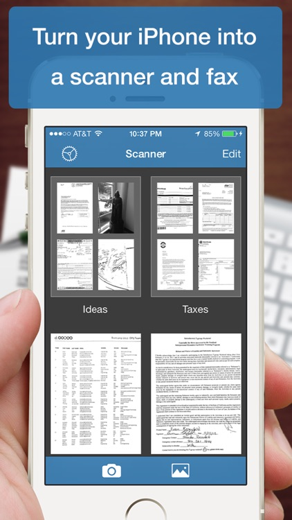 Scanner Deluxe - Scan and Fax Documents, Receipts, Business Cards to PDF screenshot-0