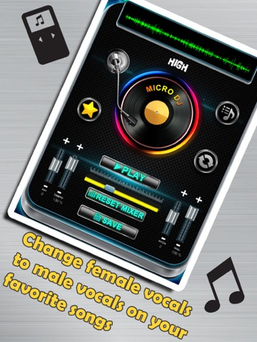 Micro DJ Free - Party music audio effects and mp3 songs editing screenshot