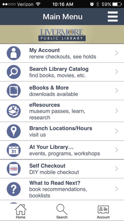 Livermore Public Library screenshot-0