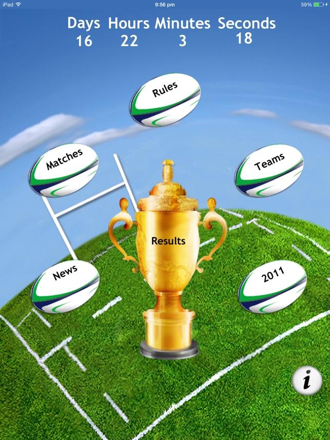 Rugby World Calendar 2015: the free fan app Screenshot