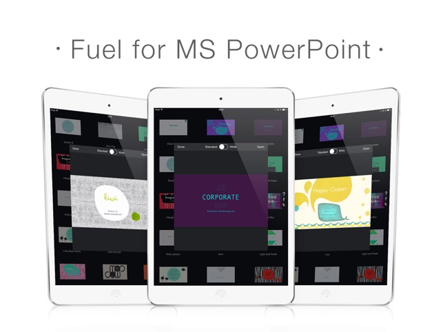 Fuel for ms powerpoint templates themes for presentations on the fuel for ms powerpoint templates themes for presentations on the app store toneelgroepblik Gallery
