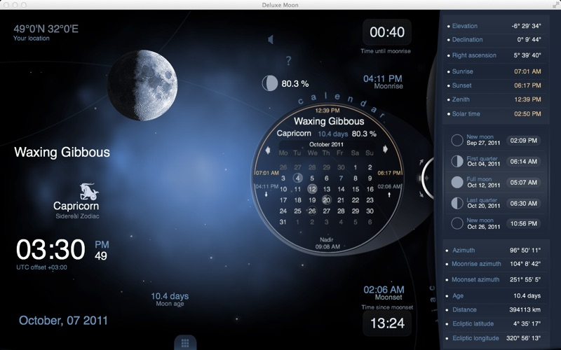 Moon Phases Calendar.Deluxe Moon Hd Moon Phase Calendar App Price Drops