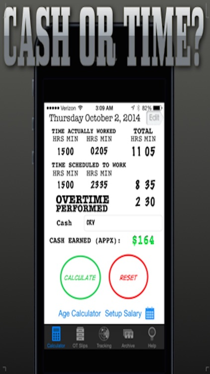 Cop's Overtime Calculator screenshot-1