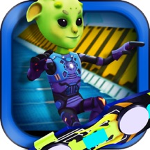 3D Skate Board Space Race - Awesome Alien Skater Racing Challenge FREE