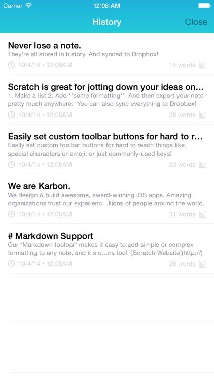 Scratch — Your Quick-Input Notepad screenshot-4