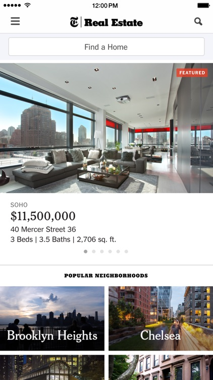 NYT Real Estate - Find a Home, Apartment or Condo screenshot-0