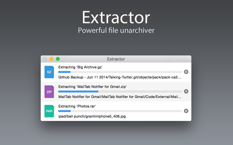 Extractor Screenshot