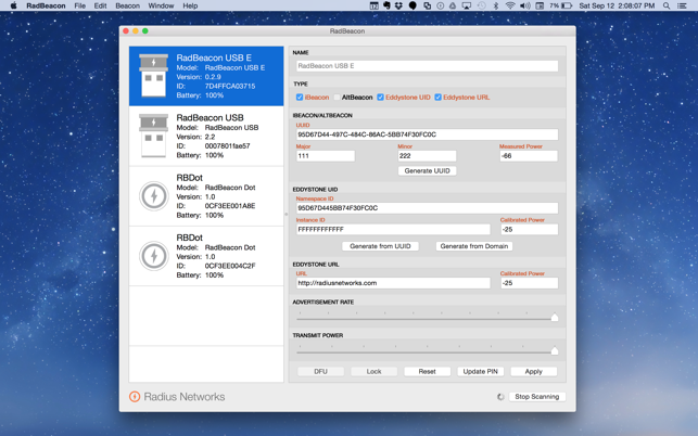 RadBeacon on the Mac App Store