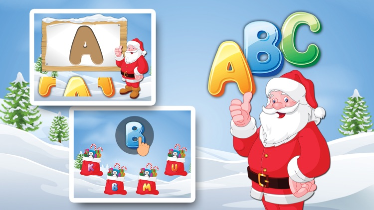 Letters with Santa Free - Kids Learn Alphabet and Letters screenshot-0