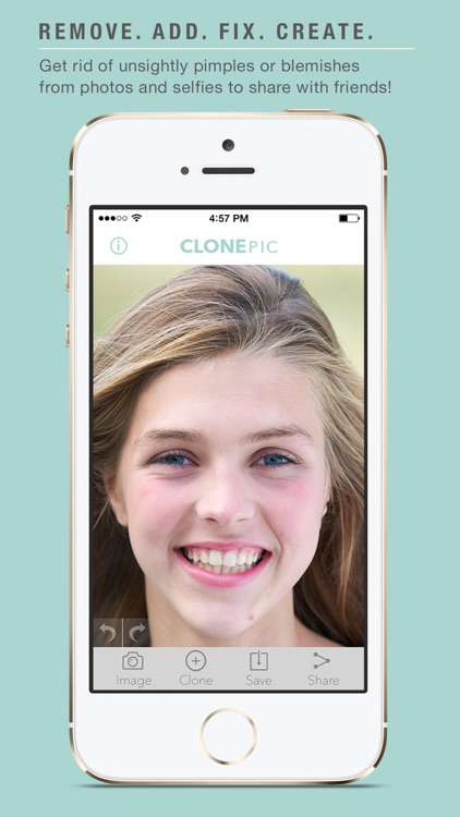 ClonePic - Retouch, Edit, and Share a Photo Instantly!