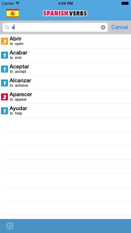spanish verbs Free ! screenshot-3