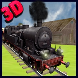 Train Driving simulator 3D - Drive the steam engine on express rail tracks