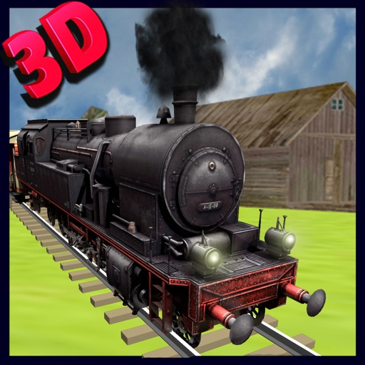Train Driving simulator 3D - Drive the steam engine on express rail