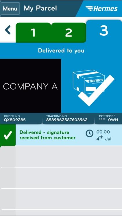 Hermes Parcel Manager screenshot-4