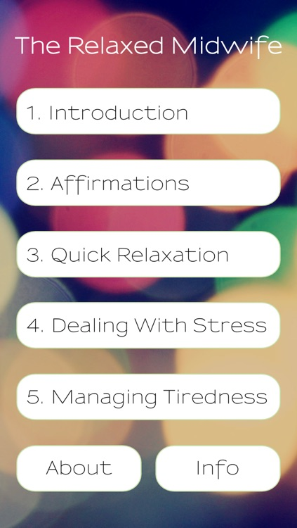 The Relaxed Midwife -A Meditation Aid to Pause, Rest and Recharge