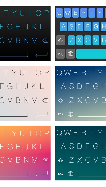 FancyKeyboard for iOS 8 - customize your keyboard with cool themes and backgrounds screenshot-3