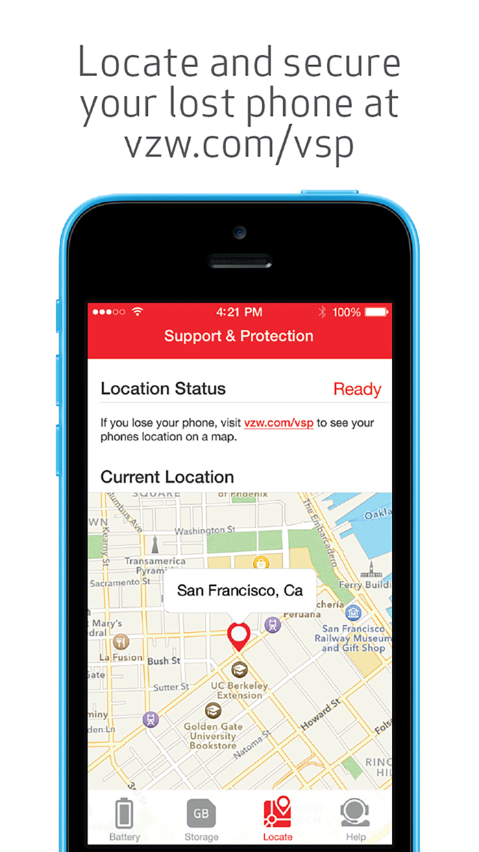 Verizon Support & Protection Screenshot