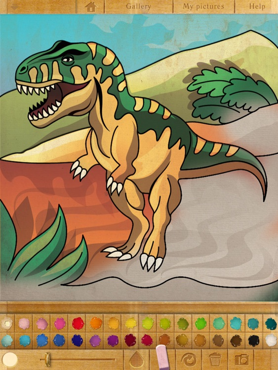 Coloring book. Dinosaurs