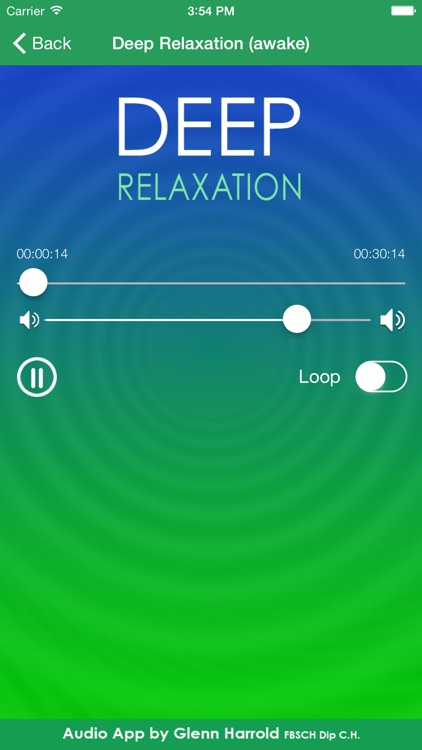 Deep Relaxation Hypnosis AudioApp-Glenn Harrold screenshot-2