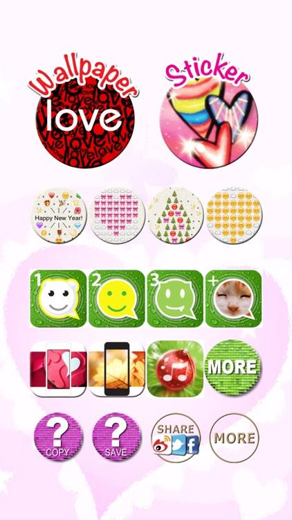 Valentines Day, Love Stickers, Emoji Art, Wallpaper